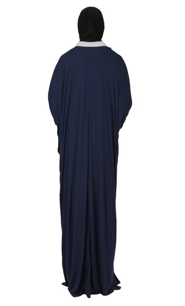 Stripes Design Loose Kaftan Style Abaya Dress - EastEssence.com