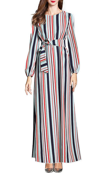 Stripes On Point Abaya - *Size Up* - EastEssence.com