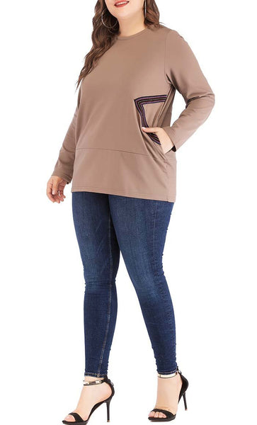 Style Is Chic Sweatshirt - Brown - *Size Up* - EastEssence.com