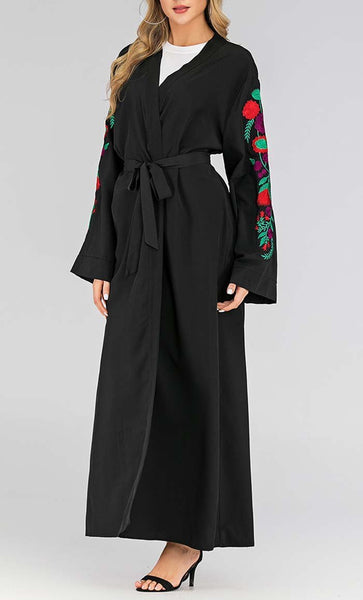 Summer Trends Embroidered Shrug (Black) *Size Up* - EastEssence.com