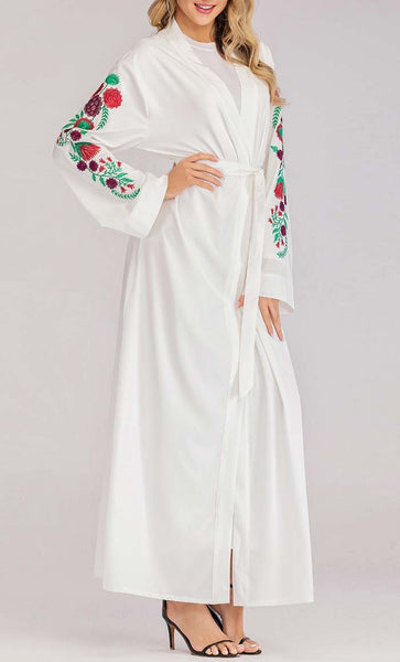 Summer Trends Embroidered Shrug (White) *Size Up* - EastEssence.com