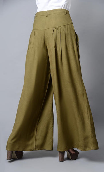 Super Comfy Buttoned Parallel Pant-Olive - EastEssence.com
