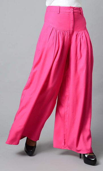 Super Comfy Buttoned Parallel Pant-Pink - EastEssence.com