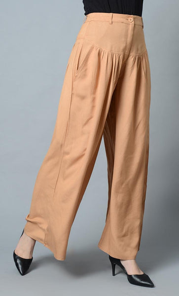 Super Comfy Buttoned Parallel Pant-Sand - EastEssence.com