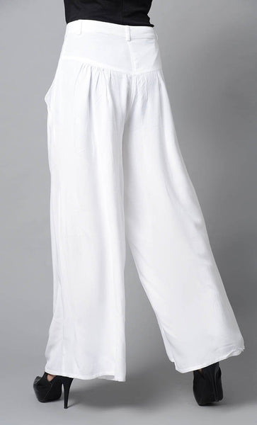Super Comfy Buttoned Parallel Pant-White - EastEssence.com