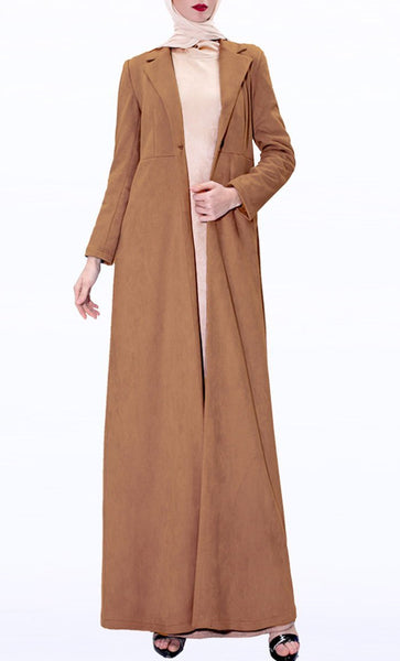 Sweet Winter Layer Coat-Brown - EastEssence.com