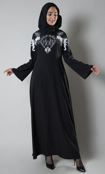 Temptress Embroidered Abaya dress - EastEssence.com