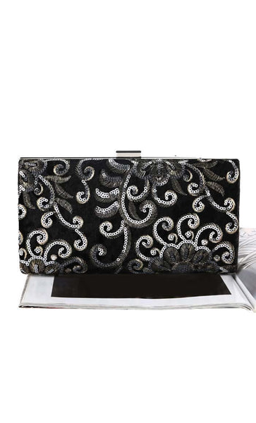 The Sequin Chic Clutch - Black - EastEssence.com