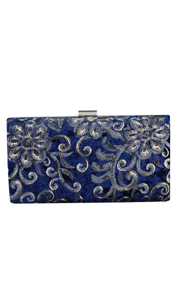 The Sequin Chic Clutch - Blue - EastEssence.com