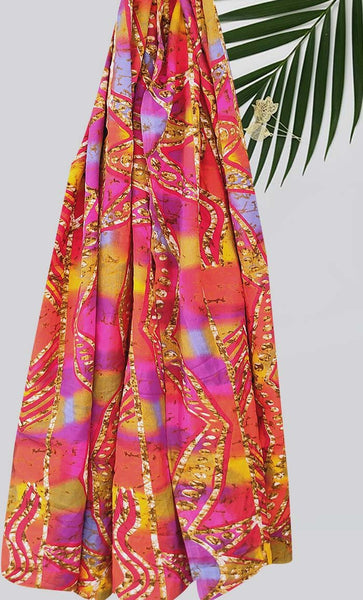 Tie-Dye Printed Hijab-Multicolor - EastEssence.com