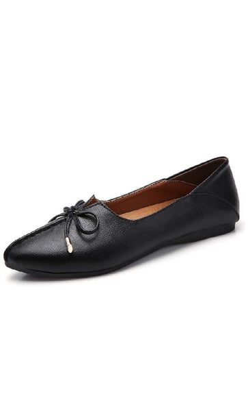 Top Stitched Shoes - Black - *Size Up* - EastEssence.com