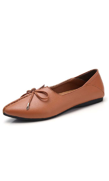 Top Stitched Shoes - Brown - *Size Up* - EastEssence.com