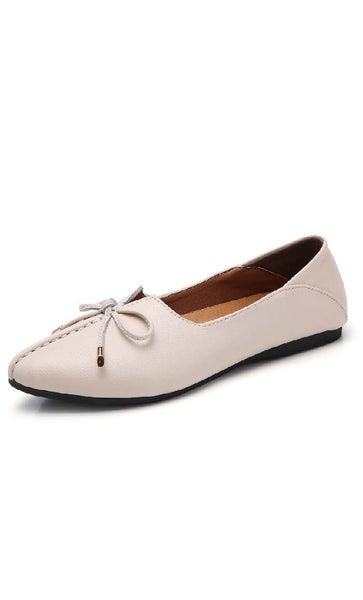 Top Stitched Shoes - Cream - *Size Up* - EastEssence.com
