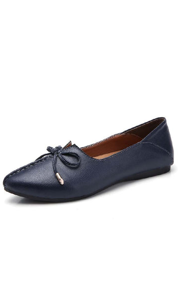 Top Stitched Shoes - Navy - *Size Up* - EastEssence.com