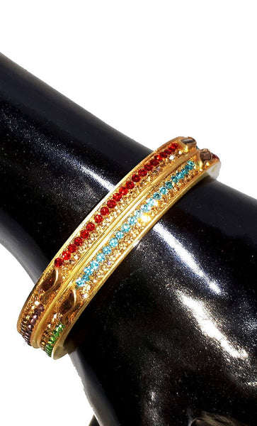 Traditional seep Multi color Bangles set of 2-Final sale - EastEssence.com