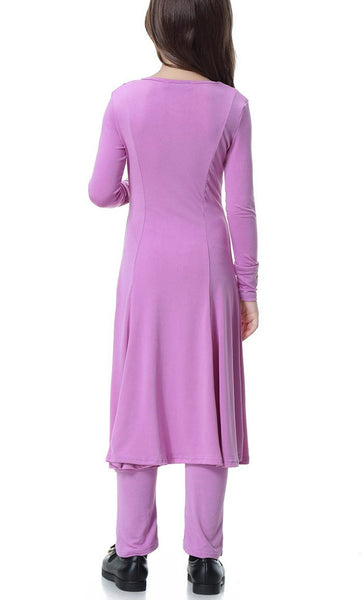 Trendy Full Sleeves Girls 2pc Set (Light Purple)-*Size Up* - EastEssence.com