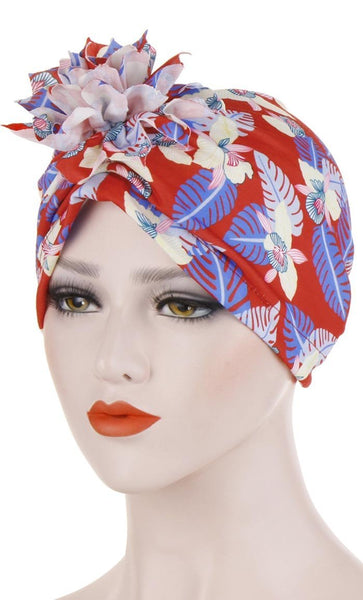 Tropical Printed Regular Bonnet - *Size Up* - EastEssence.com