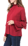 Ruched Collar  Everyday Tee (Red) *Size Up*