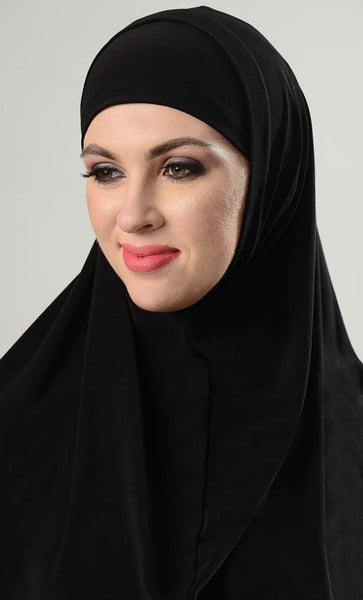 Two Piece Solid Al-Amairah Hijab Set - EastEssence.com