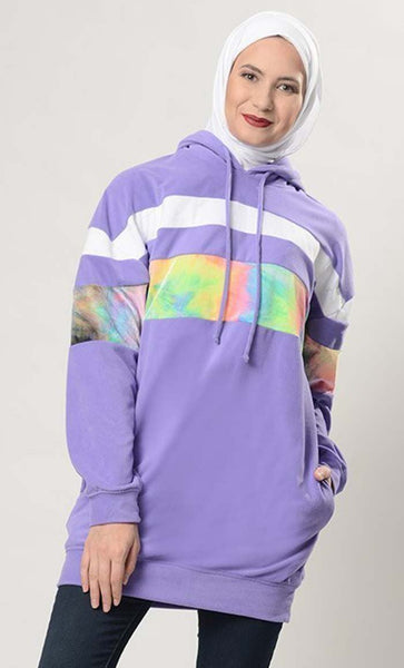 Tye And Dye Design Hoodie Sweatshirt - EastEssence.com