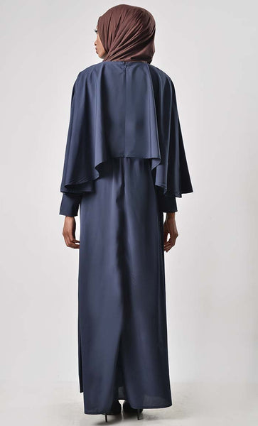 Upper Cape Basic Abaya - EastEssence.com