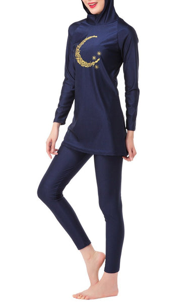 Vintage Detailed Swimwear Burkini - EastEssence.com