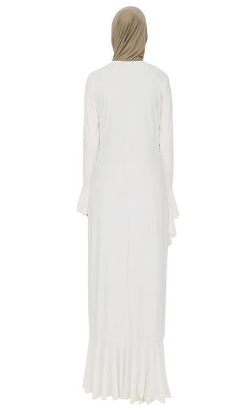 Vintage Style Ruffled Abaya Dress - EastEssence.com