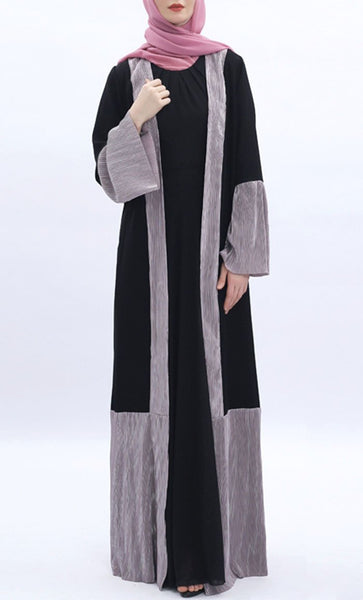 Walk In Trend Shrug - Black & Lavender - *Size Up* - EastEssence.com