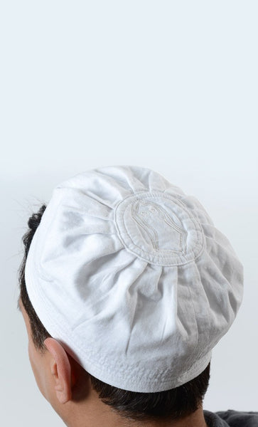 White Cotton Sandal Kufi - EastEssence.com