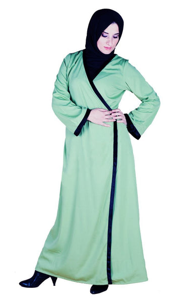 Wrap Around Knotted Tie Up Detail Abaya Dress - EastEssence.com