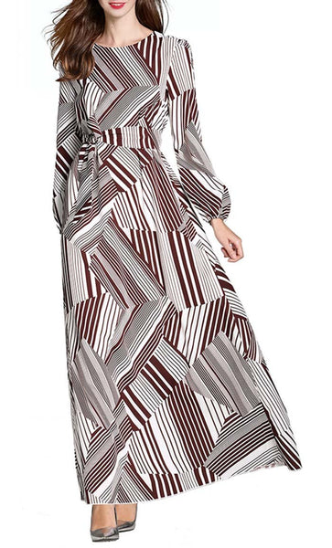 Zag Stripes Abaya - *Size Up* - EastEssence.com