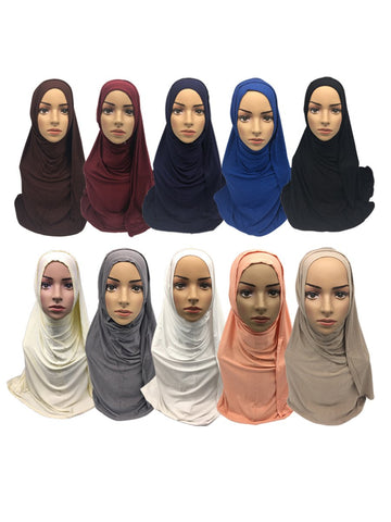 Premium Modal Cotton Jersey 10 Multipack Hijab