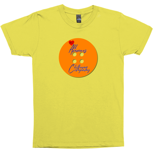 Orange Button Up T-Shirts