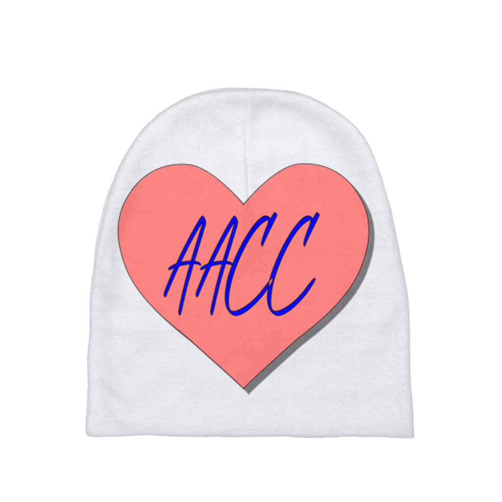 AACC  Pink Heart Baby Beanie