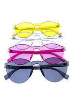 Load image into Gallery viewer, Womens thick transparent rimless horn sunglasses