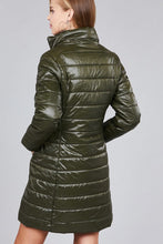 Load image into Gallery viewer, Long sleeve quilted long padding jacket