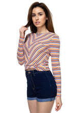 Load image into Gallery viewer, Stripe Twist Long Sleeve Shirt