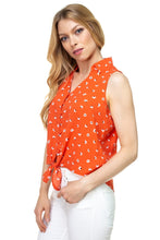 Load image into Gallery viewer, Floral Ditsy Knotted Sleeveless Top