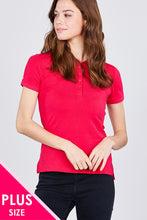 Load image into Gallery viewer, Classic Jersey Spandex Polo Top