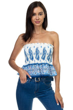 Load image into Gallery viewer, Boho Print Sleeveless Ruffle Top