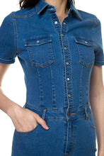 Load image into Gallery viewer, Denim Short Sleeve Romper