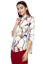 Load image into Gallery viewer, Long Sleeve Scarf Print Shirt