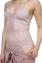Load image into Gallery viewer, Sleeveless Lace Bodysuit