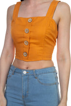 Load image into Gallery viewer, Exposed Back Sleeveless Cropped Top