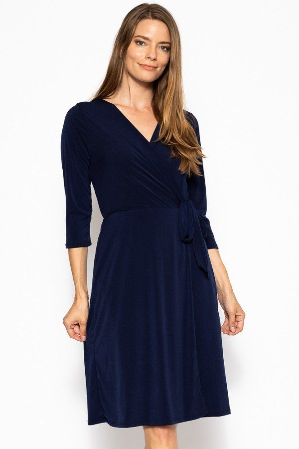 Midi 3/4 Sleeve Dress