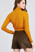 Load image into Gallery viewer, Long Dolman Sleeve Turtle Neck Rib Knit Top