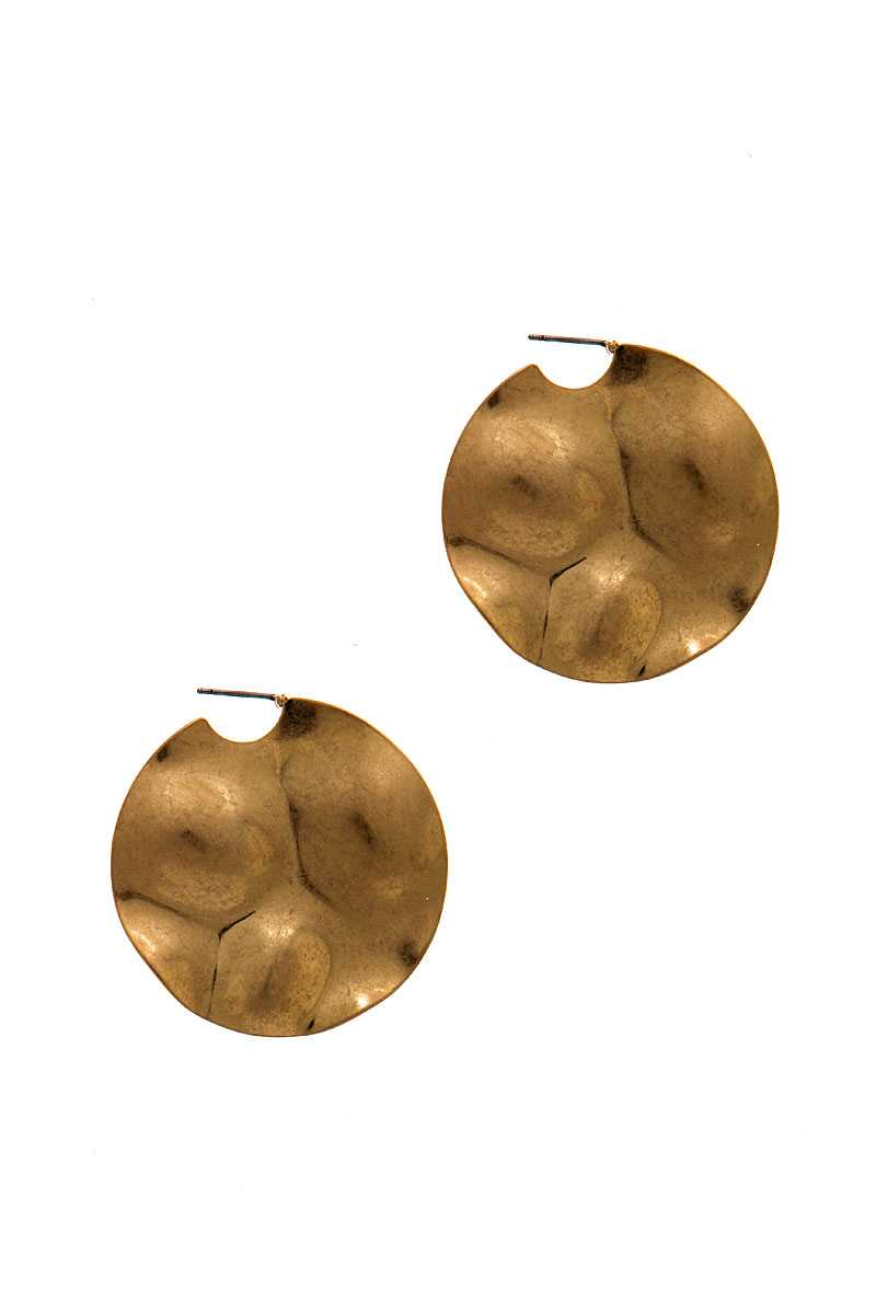 Chic Fashion Bent Circle Earring
