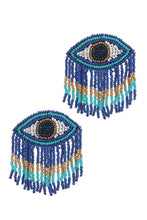 Load image into Gallery viewer, Stylish Evil Eye Drop Fringe Earring