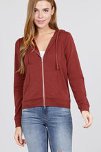 Load image into Gallery viewer, Long Sleeve Zipper French Terry Jacket W/ Kangaroo Pocket