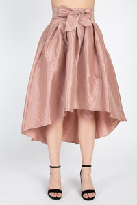Taffeta High-low Skirt
